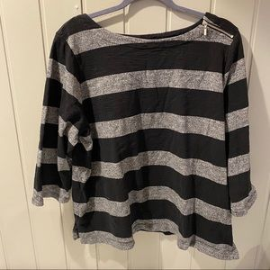 2 For $15 | Croft & Barrow Black &Gray Blouse